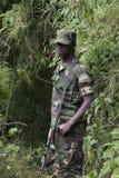 Rwandan Military Personnel Stock Image