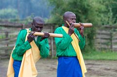 Rwandan musicians in the village Royalty Free Stock Photos