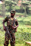 Rwandan soldier stock photo