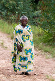 Rwandisk äldre kvinna Arkivfoto