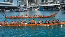 RWC Öffnung - Waka Auckland Ufergegend Stockfotografie