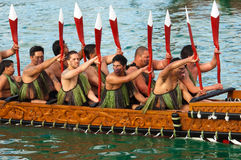 RWC Öffnung - Waka Auckland Ufergegend Lizenzfreies Stockfoto