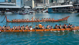 RWC Opening - Waka Auckland Waterfront Stock Photography