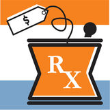 RX bowl with price tag Royalty Free Stock Photo