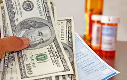 Rx Cost Stock Photo