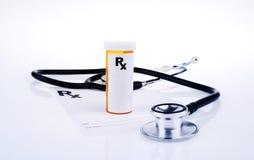 RX-läkarundersökningrecept Arkivfoton