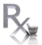 RX, Motar et pilon Photographie stock