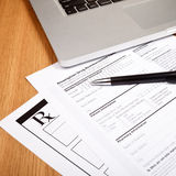 Rx patient form Royalty Free Stock Photos