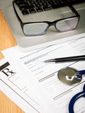 Rx patient form Royalty Free Stock Image
