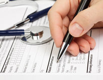 Rx patient info Stock Photo