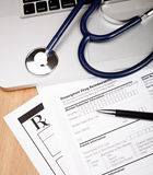 Rx-Patientenform Lizenzfreie Stockbilder