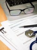 Rx-Patientenform Lizenzfreies Stockbild