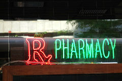 Rx Pharmacy. A neon sign at a pharmacy Stock Images