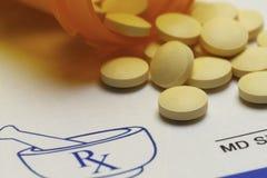 RX Pill Close Up Stock Image