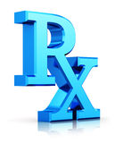 RX prescription medicine symbol Royalty Free Stock Photo