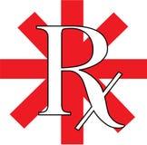 Rx rosso Immagine Stock