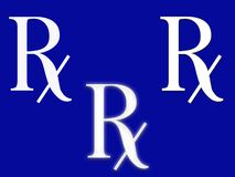 RX sign Stock Photography