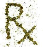 RX Spelled With Marijuana. The symbol RX spelled out with real marijuana stock image