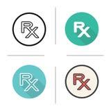 Rx symbol vektor illustrationer
