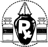 RX With Two Bottles Of Medicine Royalty Free Stock Photo
