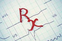 rx Zeichen Lizenzfreie Stockfotografie
