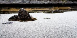 Ryōan-ji świątynny rockowy ogród Obraz Stock