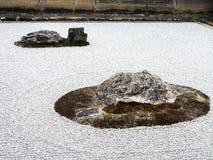 Ryōan-ji rockowego ogródu świątynny szczegół Fotografia Stock