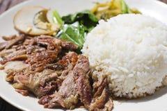 ryż wieprzowina ryż Zdjęcie Royalty Free