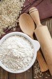 Ryżowa mąka obrazy stock