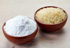 Ryżowa mąka i ryż obraz royalty free