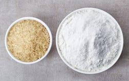 Ryżowa mąka i ryż obrazy stock