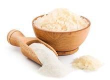 Ryżowa mąka na białym tle Zdjęcia Royalty Free