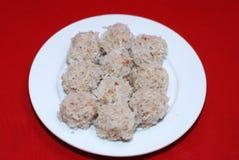 Ryżowe mięsne piłki Fotografia Stock