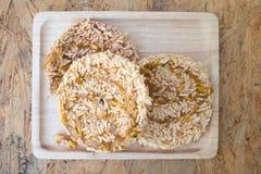 Ryżowego krakersa khao dębnika Tajlandzki deser Zdjęcie Stock