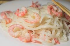 Ryżowi kluski z garnelą Zdjęcia Stock