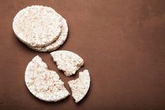 Ryżowi krakersy, kopii przestrzeń zdrowa żywność fotografia royalty free
