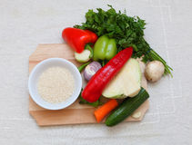 ryżowi warzywa zdjęcia royalty free