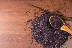 Ryżowy Jagodowy Organicznie dla zdrowie obrazy stock
