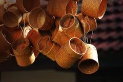 Ryżowy koszykowy Tajlandia łozinowy Zdjęcia Stock
