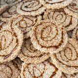 Ryżowy krakers Przekąsza cukier Fotografia Stock