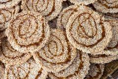 Ryżowy krakers Przekąsza cukier Obraz Royalty Free