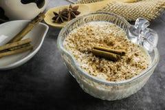 Ryżowy pudding i cynamon zdjęcie stock