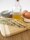Ryżowy syrop i inni wypiekowi składniki Obrazy Stock