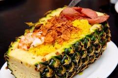 ryżu smażący ananasowy fertanie Obrazy Stock