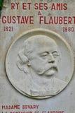 Ry Francja, Czerwiec, - 23 2016: Gustave Flaubert stela Obraz Stock