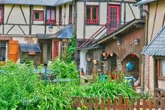 Ry Francja, Czerwiec, - 23 2016: malownicza wioska w lecie Zdjęcie Stock