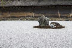 Ryōan-ji temple rock garden detail Stock Photos