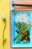 ryżowi szparagowi kluski Zdjęcia Stock
