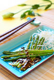 ryżowi szparagowi kluski Fotografia Royalty Free