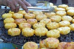 Ryżowi torty w Asia, Asia jedzeniu - Zdjęcia Stock